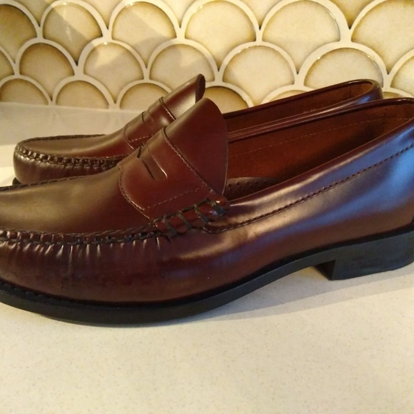 Dexter Other - Dexter Leather Penny Loafers Size 8.5 Burgundy